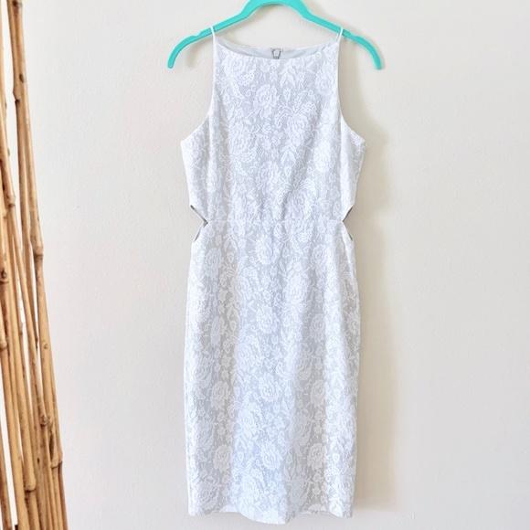 Topshop Dresses & Skirts - Topshop Silver Sleeveless Cocktail Dress 6